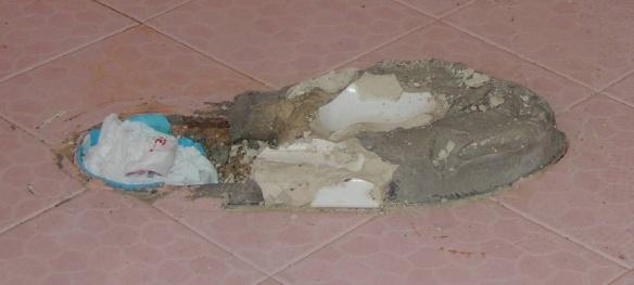 Zement Toilette